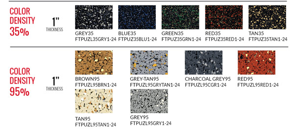 Interlocking Tile Rubber Flooring